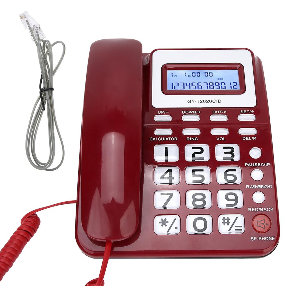 Desk Corded Telephone Landline Home Office Hotel Phone