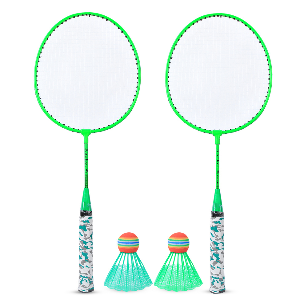 2 PLAYER PRO BADMINTON SET WITH RACKET 2 SHUTTLECOCK OUTDOOR GARDEN GAME SPORTS