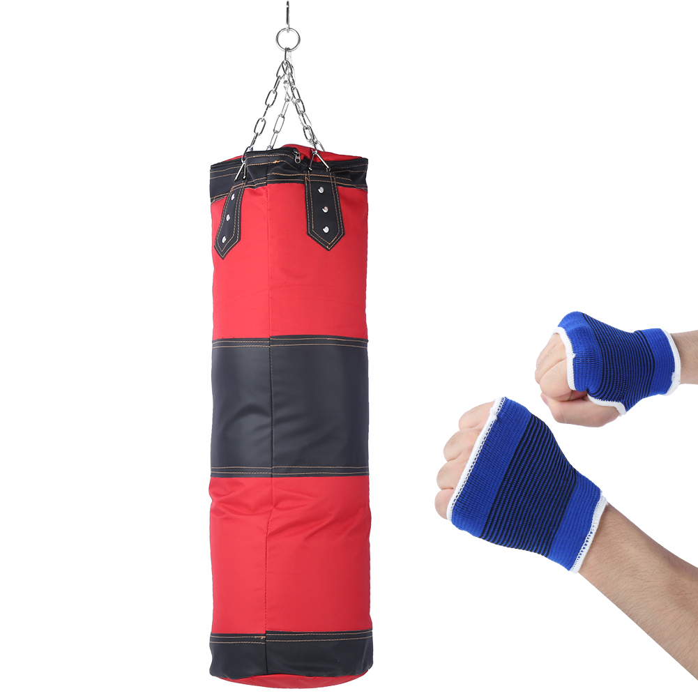 Empty Sandbags Heavy Boxing Punching Bag Training Hook Chain Workout Set Boxer