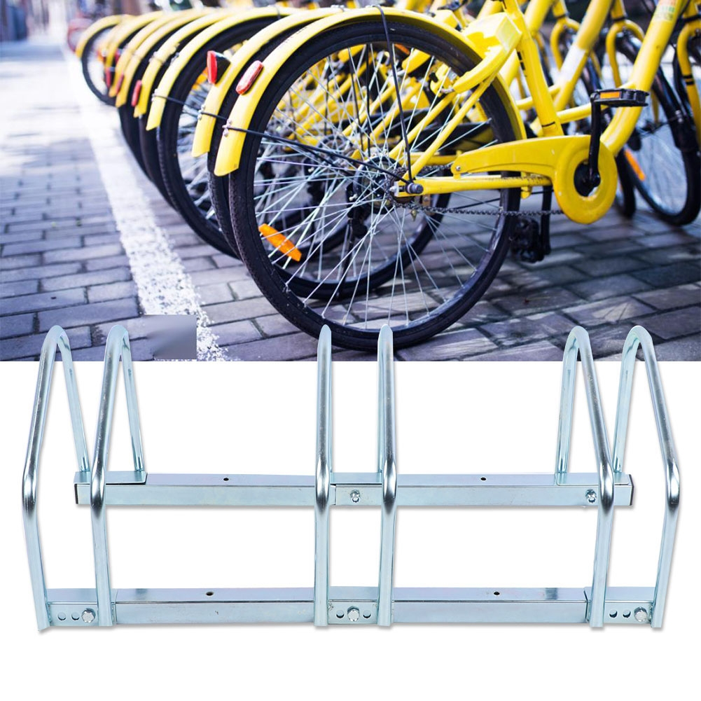 Details about  /3//4//5//6 Bike Floor Bicycle Rack Stand Parking Mounted Garage Home Holder Steel