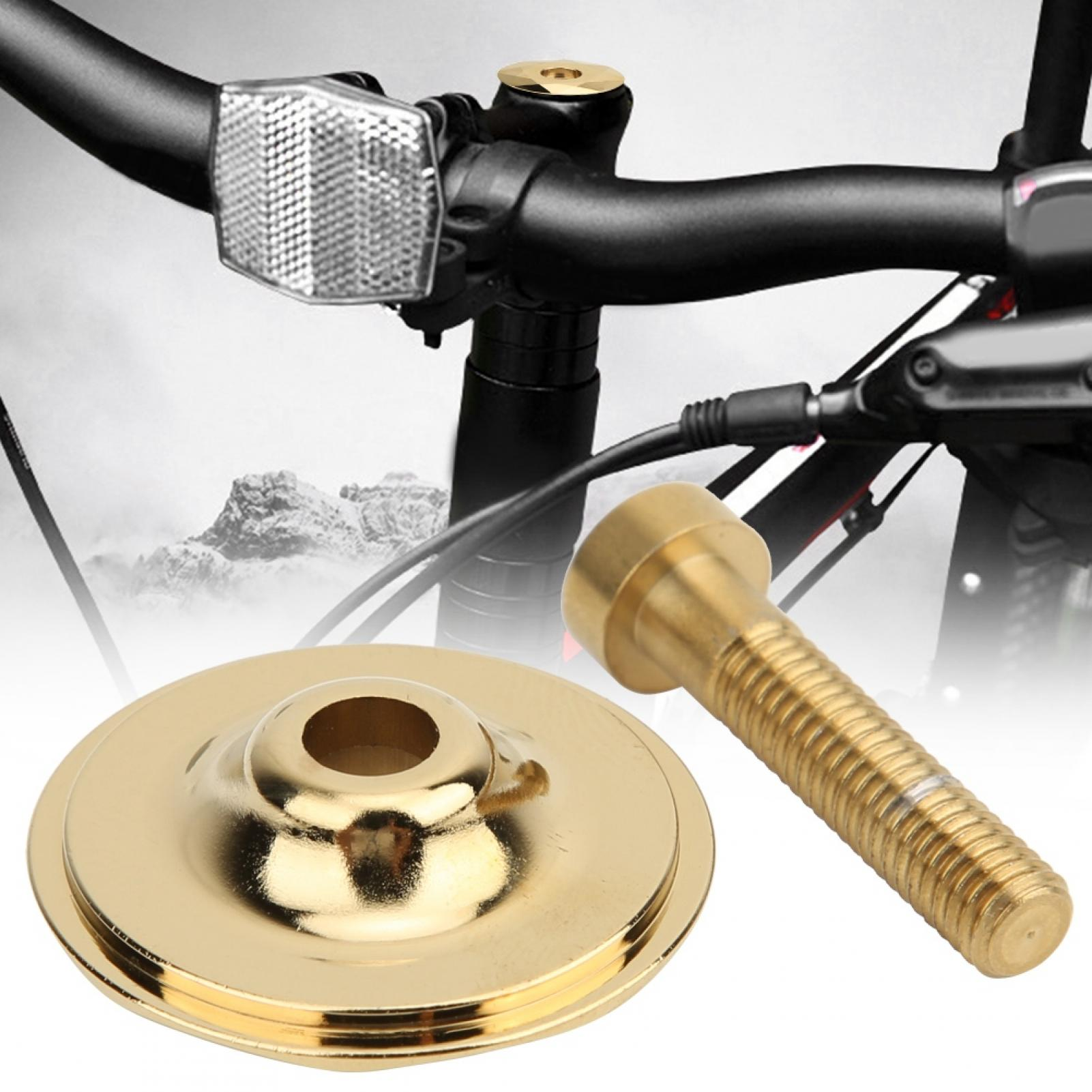Cap Ti Screws Bikes Fastening Bicycle Headset Fixing Stem Top M6 Titanium Bolts