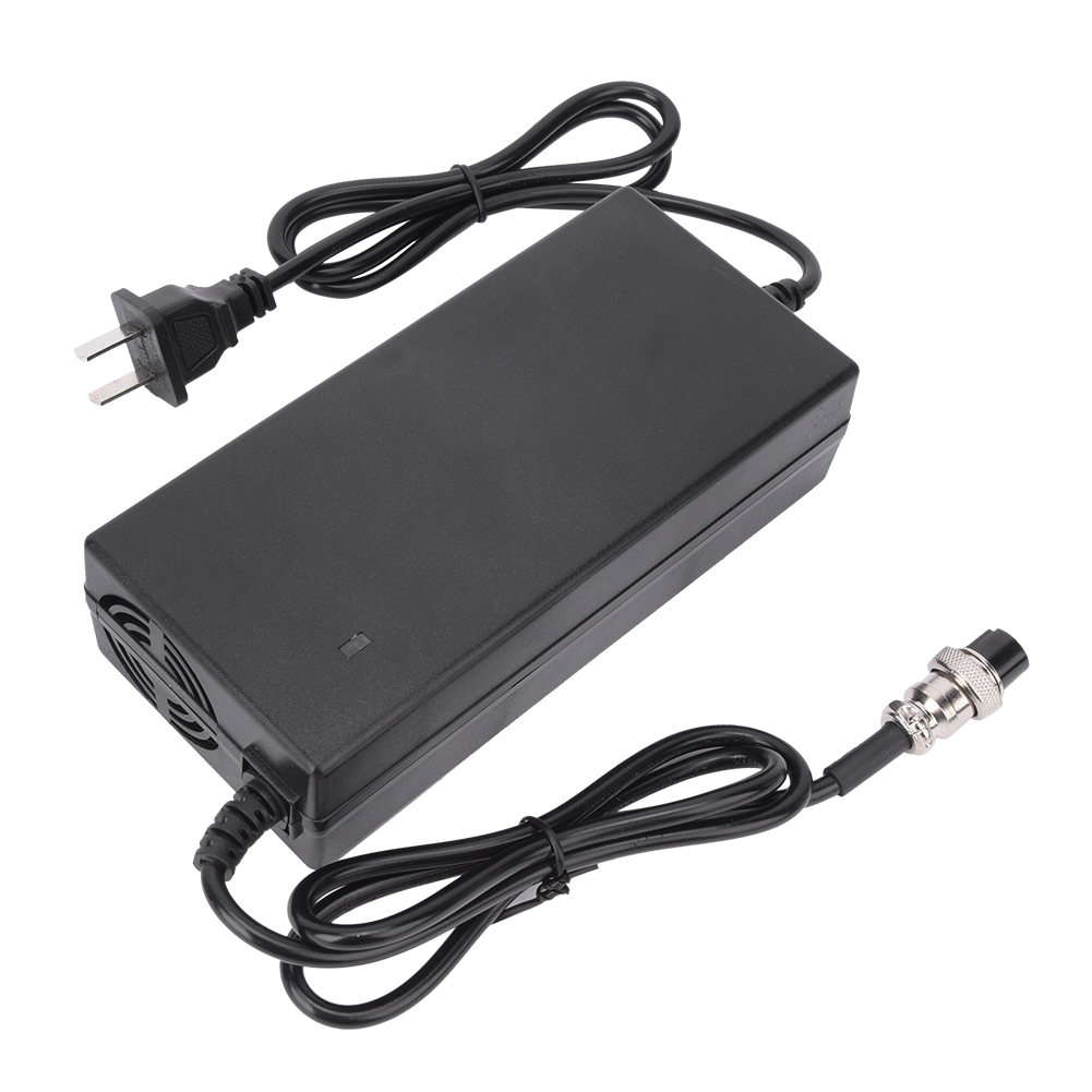 24V Lithium Battery Charger Adapter for Electric Bicycle E-Bike Scooter 29.4V 2A