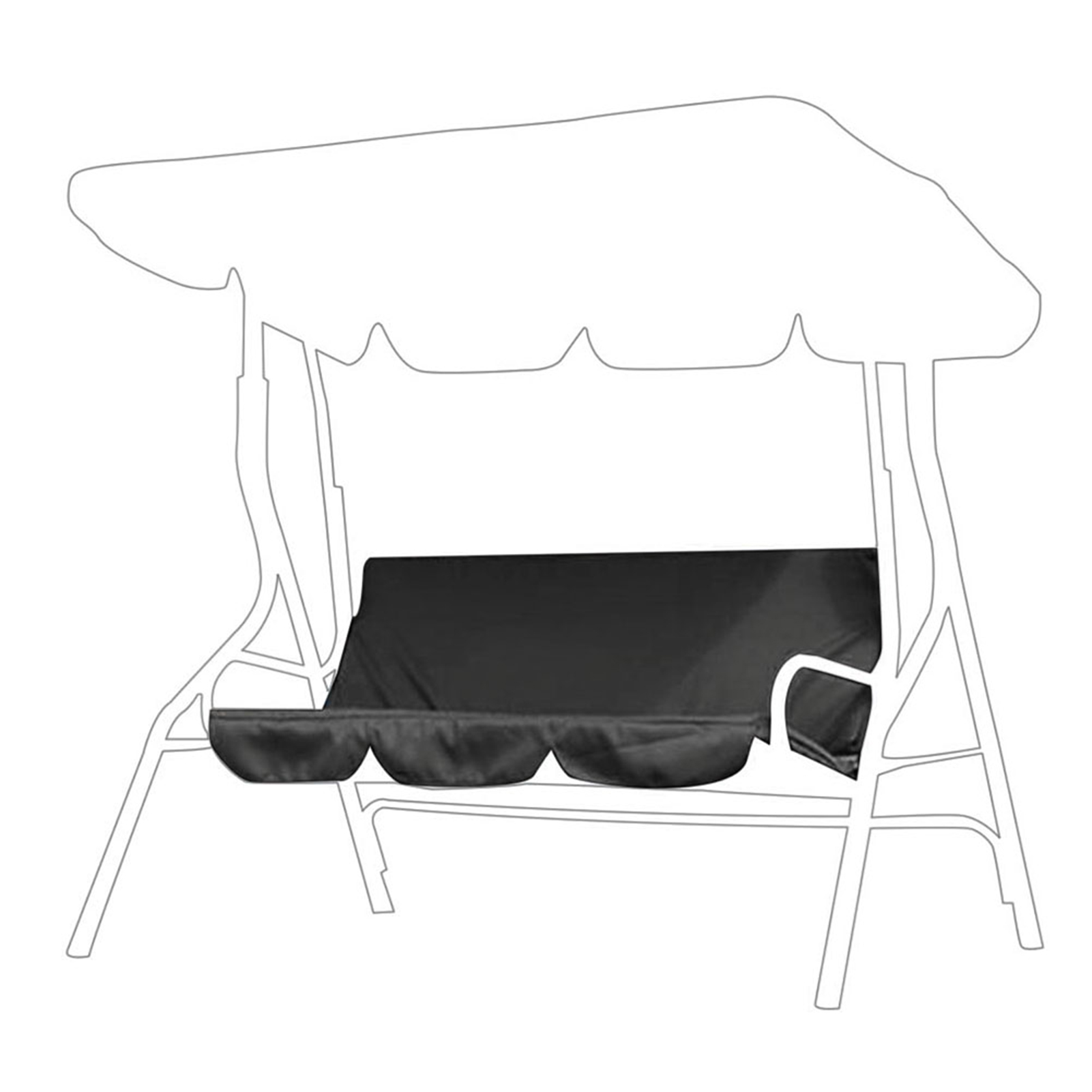 3-Seater-Swing-Seat-Patio-Hammock-Chair-Cover-Garden-Outdoor-Canopy-Replacement miniature 17