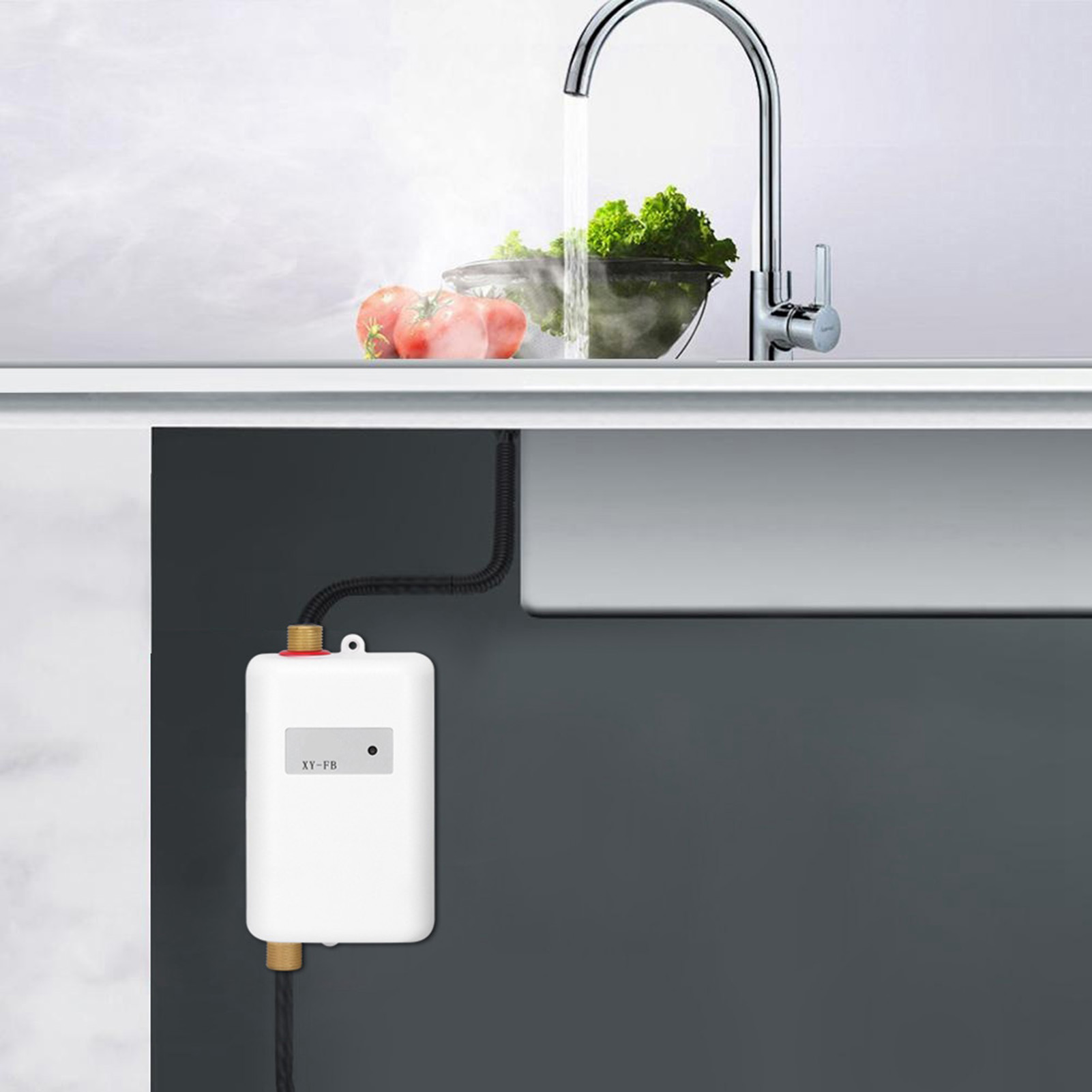 Electric Tankless Instant Hot Water Heater Under Sink Tap