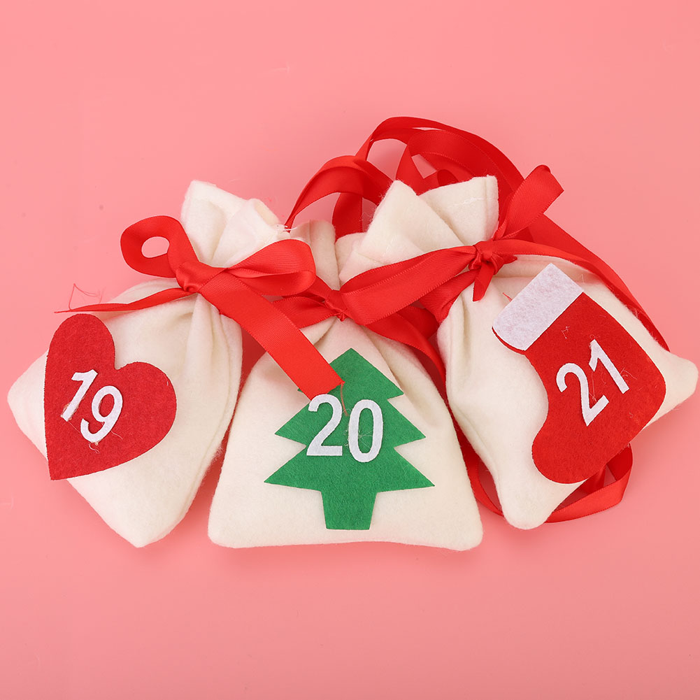New Year Countdown Advent Hanging Calendar Gift Bags ...