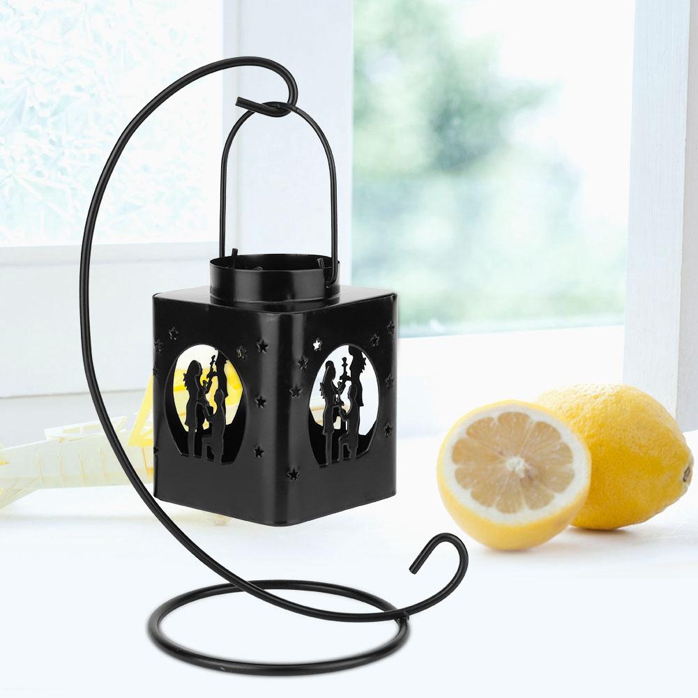1-Piece-Moderne-Creux-Out-Bougeoir-Articles-Chandelier-Suspendu-Lanterne-Decor miniature 17