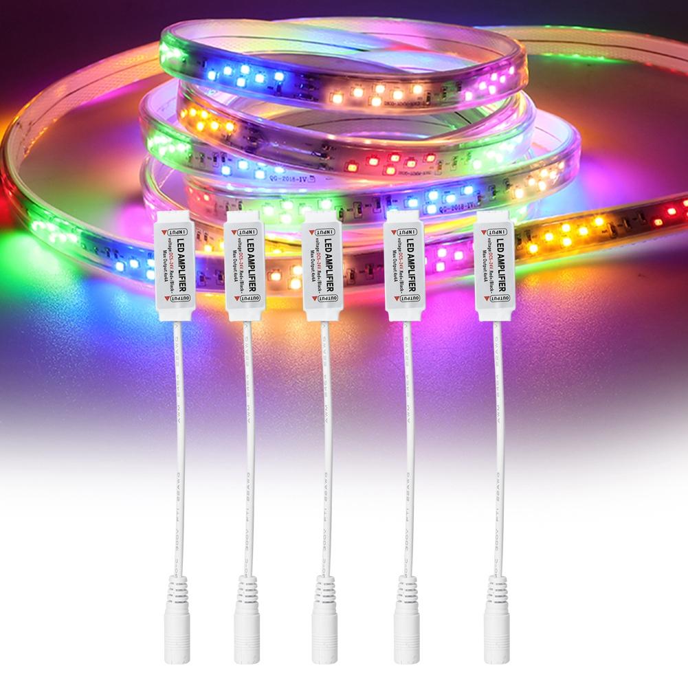 5x-Mini-Power-Amplifier-RGBW-LED-Dimmer-Amplifier-for-5050-Light-Strip-Male-Head miniature 14