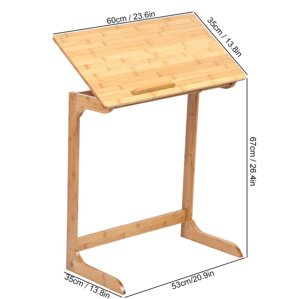 m/énage Bambou Vertical Table Pliante Ordinateur Portable Ordinateur de Bureau Bureau Poste de Travail Meubles pour /étude de Bureau /à Domicile A sixx Table Pliante