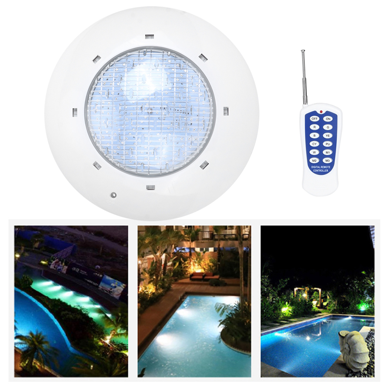 thumbnail 38 - Swimming Pool Wall Light Colorful Remote Control Underwater Lights AC 12V 18-45W