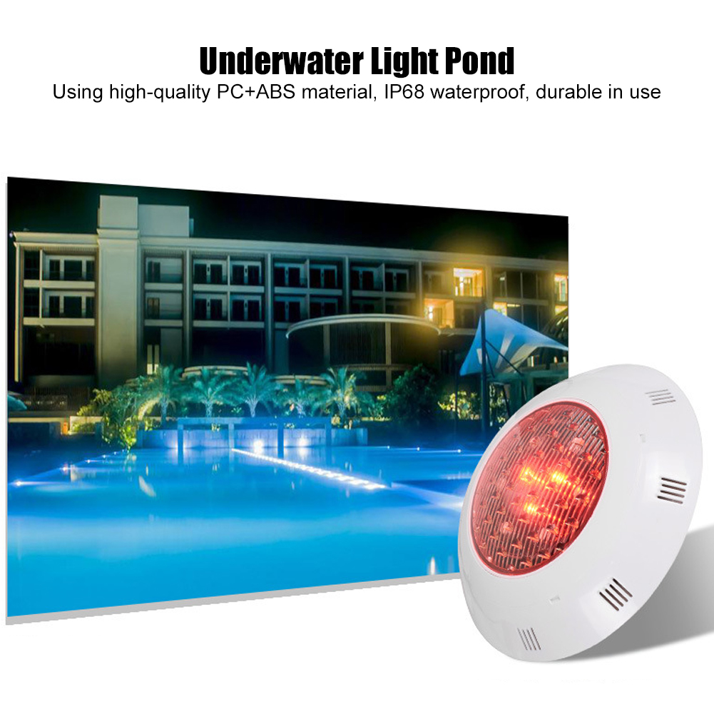 thumbnail 31 - Swimming Pool Wall Light Colorful Remote Control Underwater Lights AC 12V 18-45W