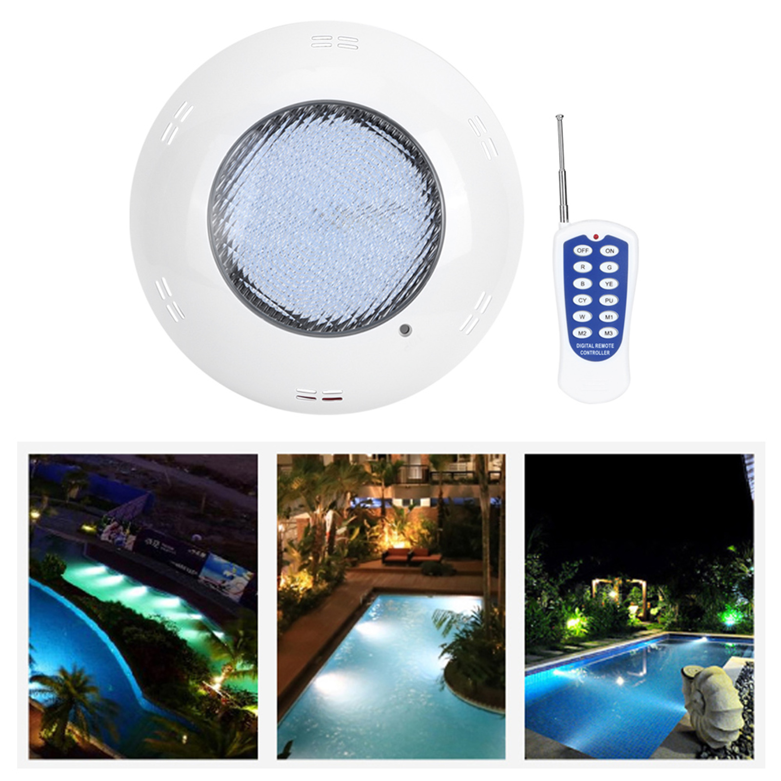 thumbnail 70 - Swimming Pool Wall Light Colorful Remote Control Underwater Lights AC 12V 18-45W