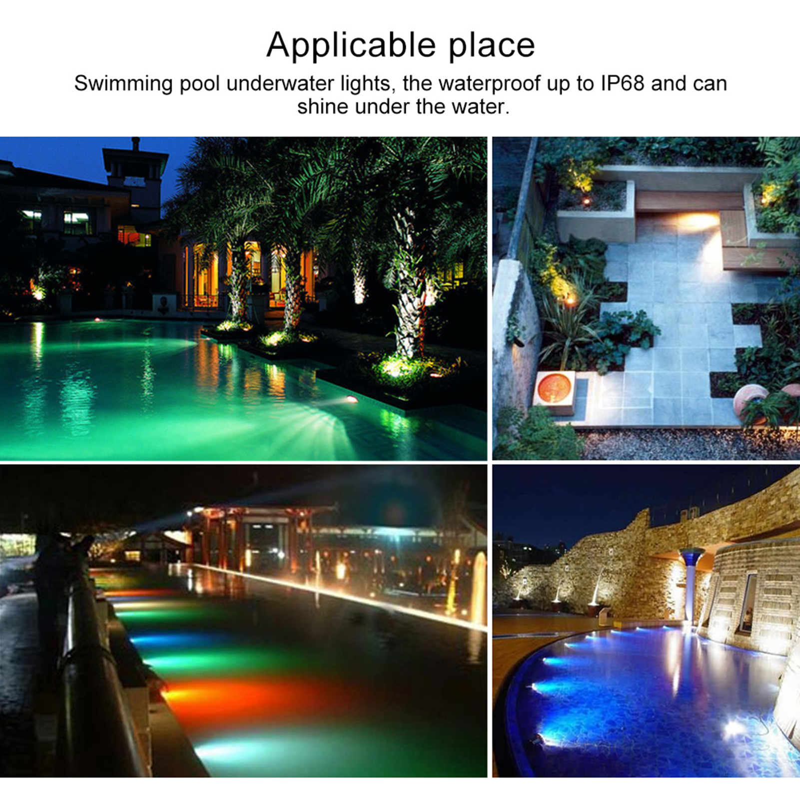thumbnail 71 - Swimming Pool Wall Light Colorful Remote Control Underwater Lights AC 12V 18-45W