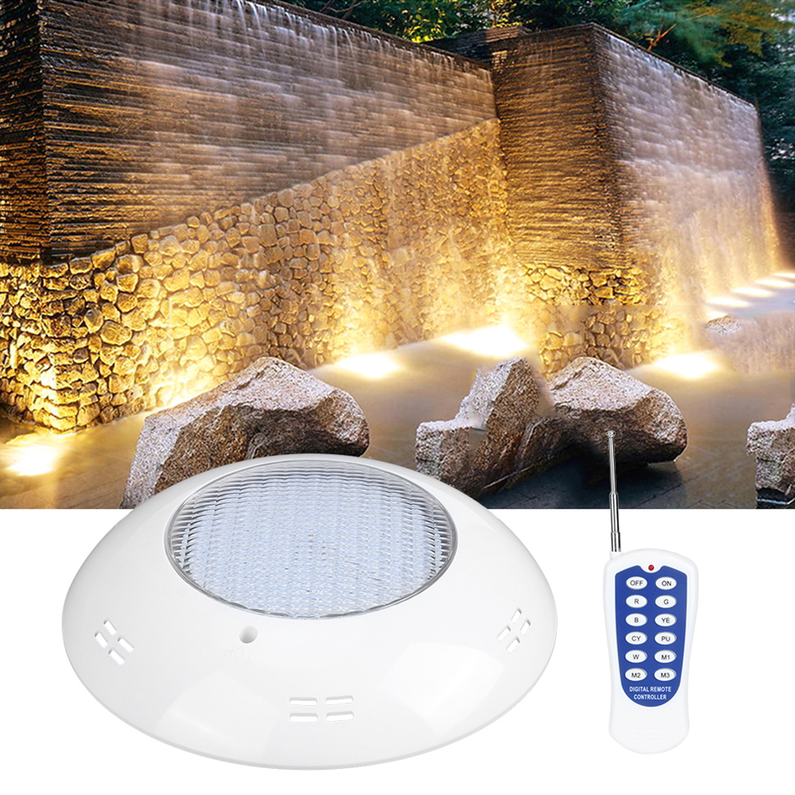 thumbnail 67 - Swimming Pool Wall Light Colorful Remote Control Underwater Lights AC 12V 18-45W