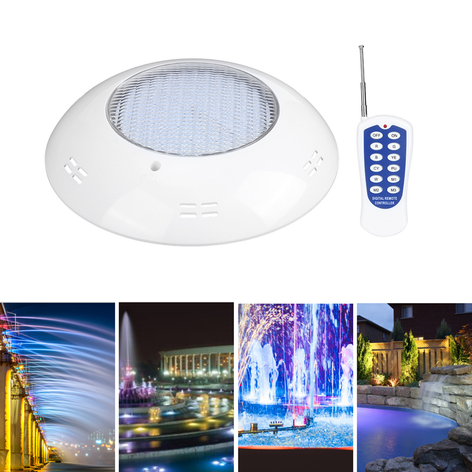thumbnail 69 - Swimming Pool Wall Light Colorful Remote Control Underwater Lights AC 12V 18-45W