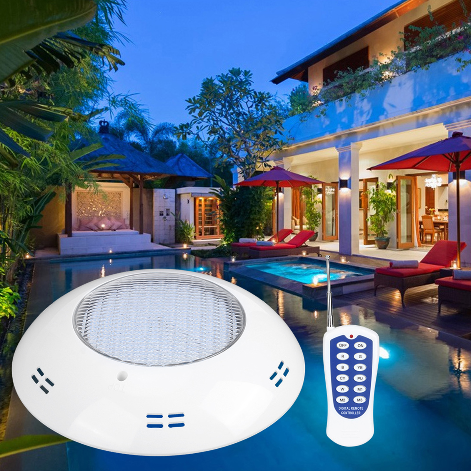 thumbnail 64 - Swimming Pool Wall Light Colorful Remote Control Underwater Lights AC 12V 18-45W