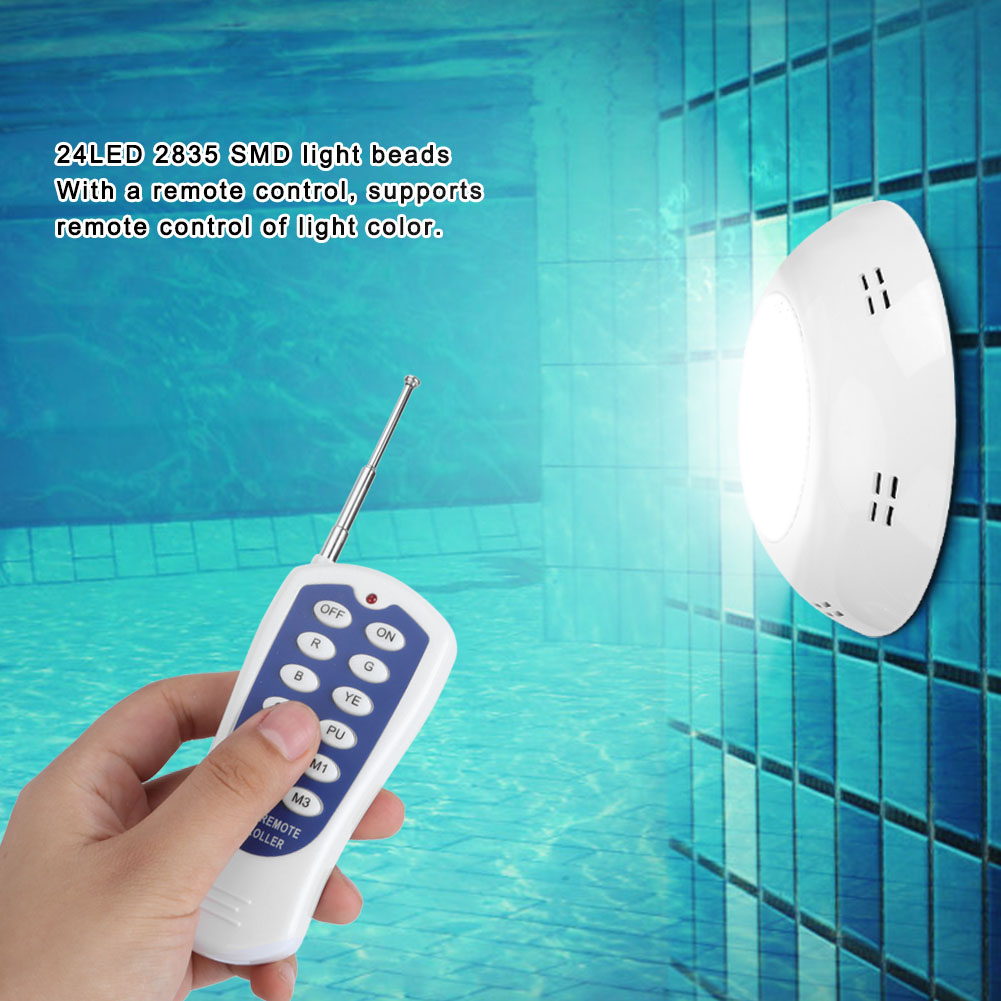 thumbnail 89 - Swimming Pool Wall Light Colorful Remote Control Underwater Lights AC 12V 18-45W
