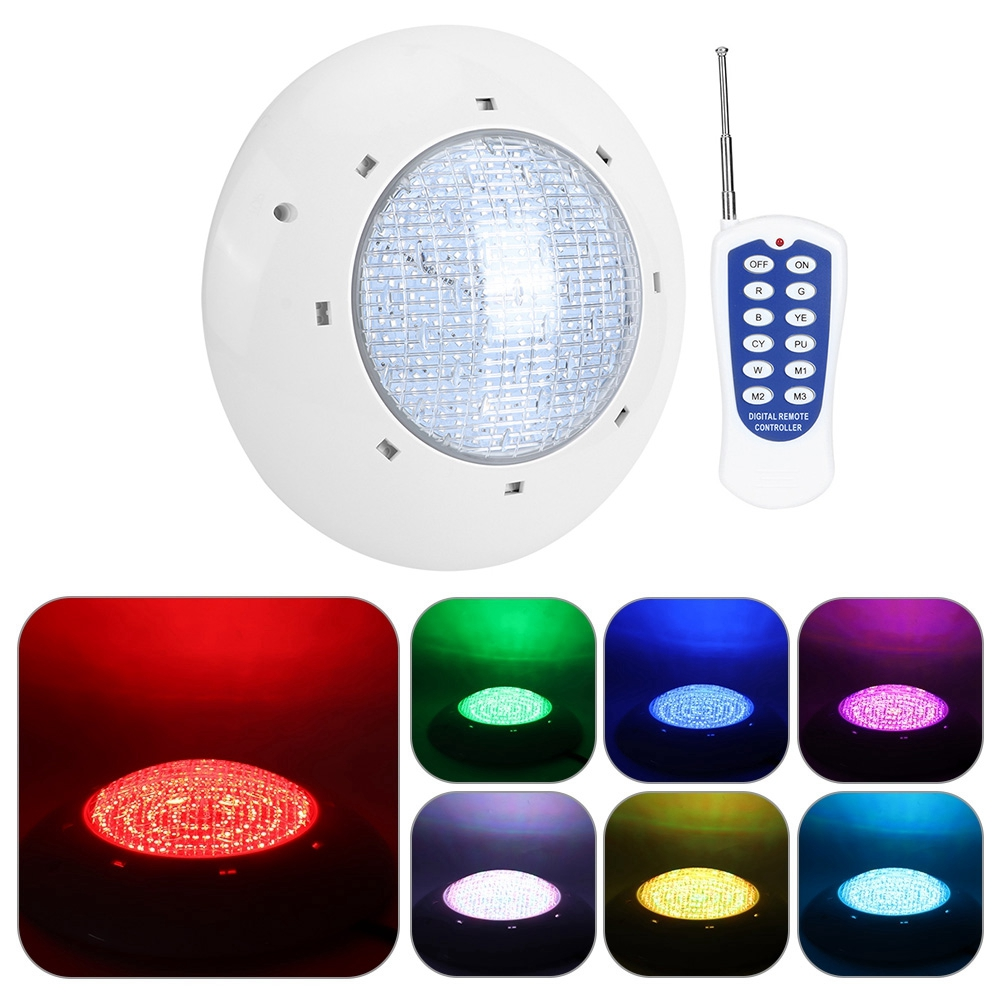 thumbnail 99 - Swimming Pool Wall Light Colorful Remote Control Underwater Lights AC 12V 18-45W