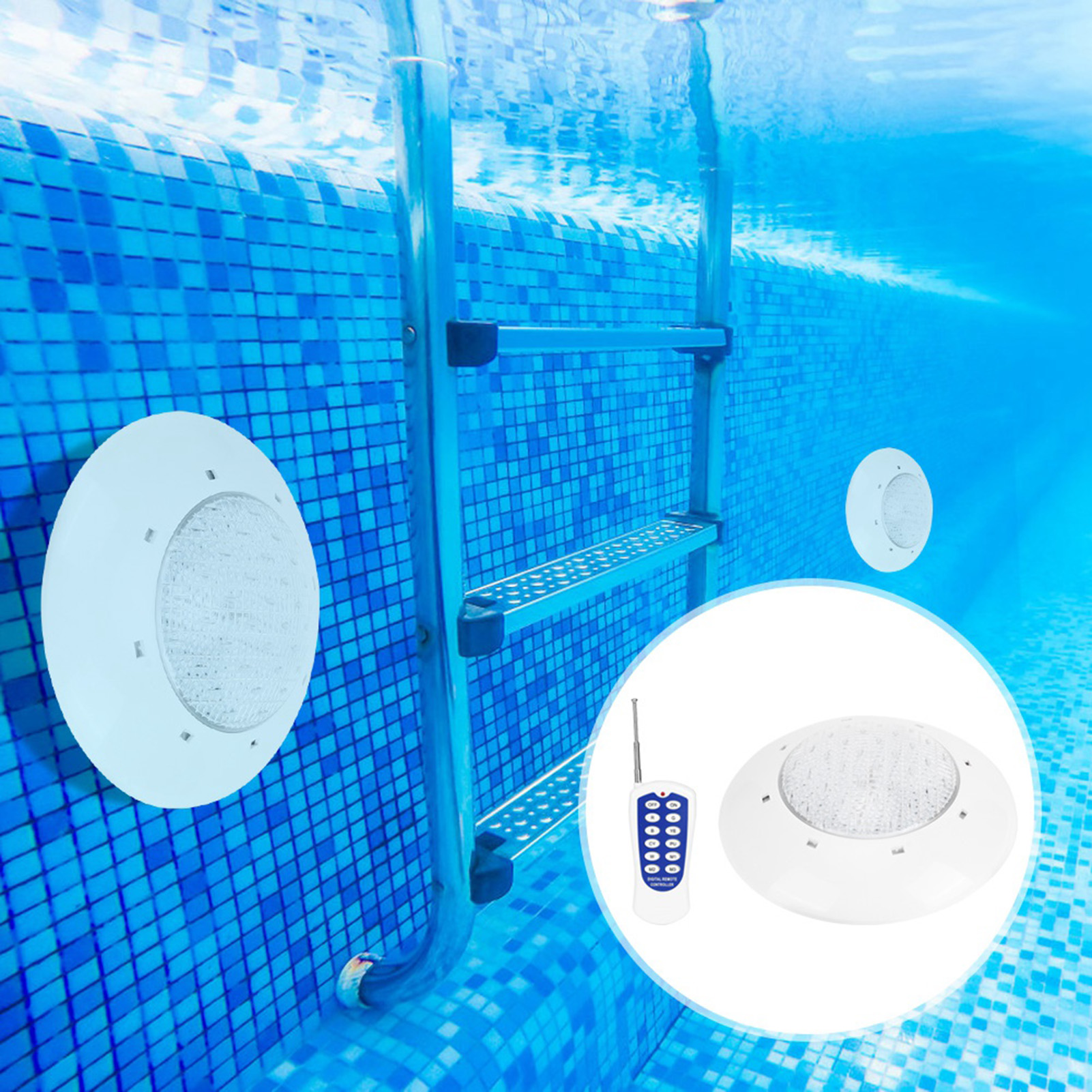 thumbnail 47 - Swimming Pool Wall Light Colorful Remote Control Underwater Lights AC 12V 18-45W