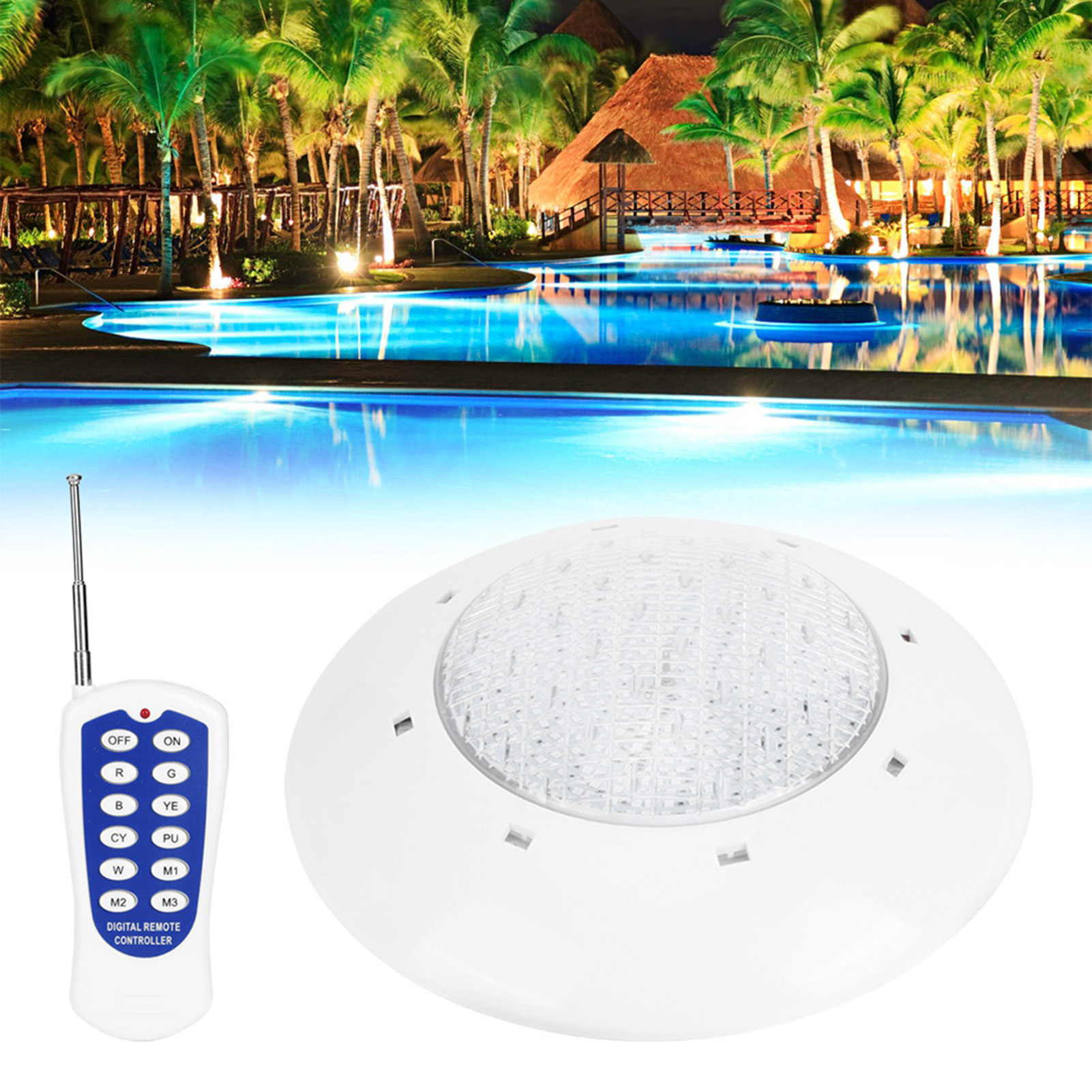 thumbnail 48 - Swimming Pool Wall Light Colorful Remote Control Underwater Lights AC 12V 18-45W