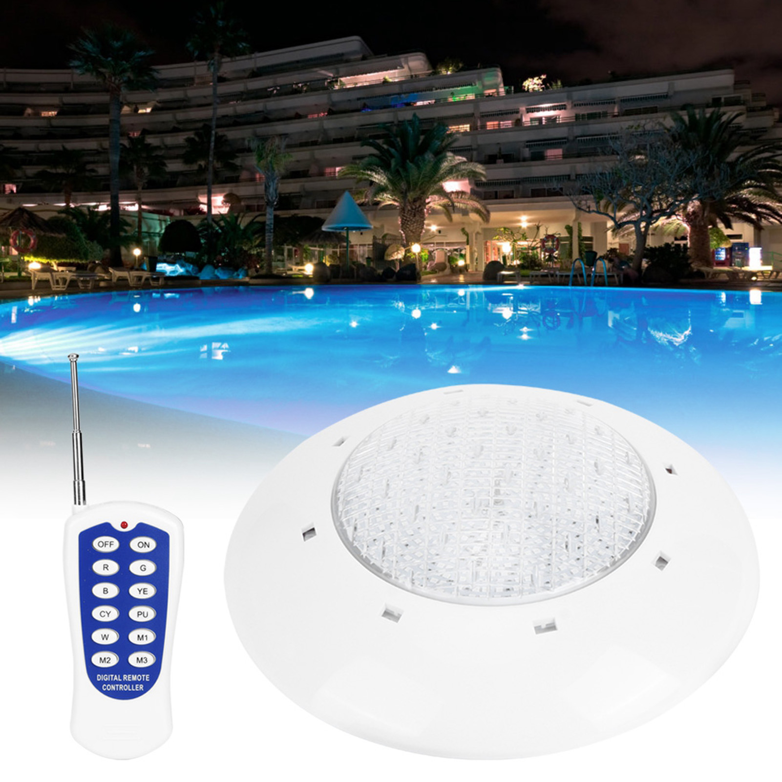 thumbnail 49 - Swimming Pool Wall Light Colorful Remote Control Underwater Lights AC 12V 18-45W