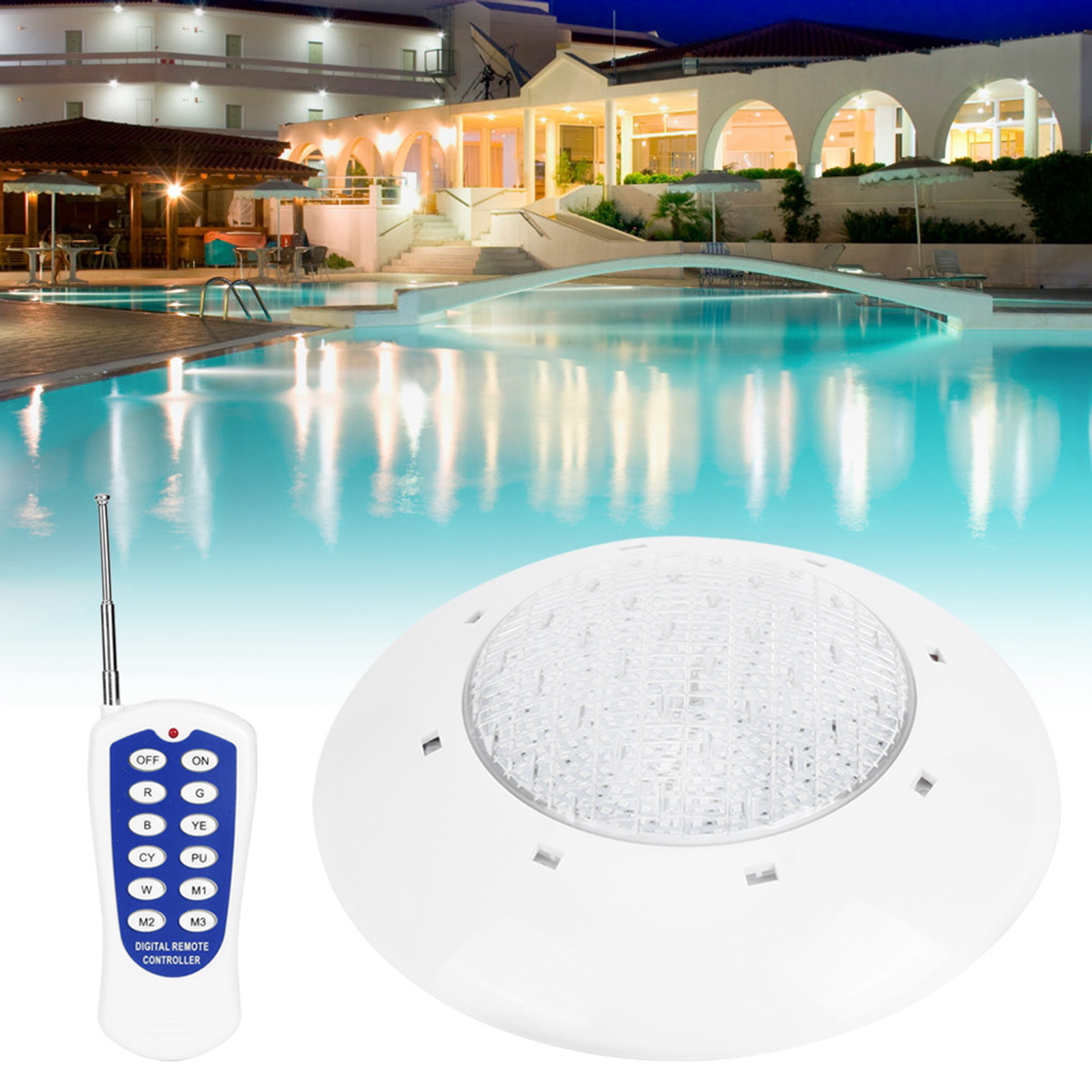 thumbnail 44 - Swimming Pool Wall Light Colorful Remote Control Underwater Lights AC 12V 18-45W