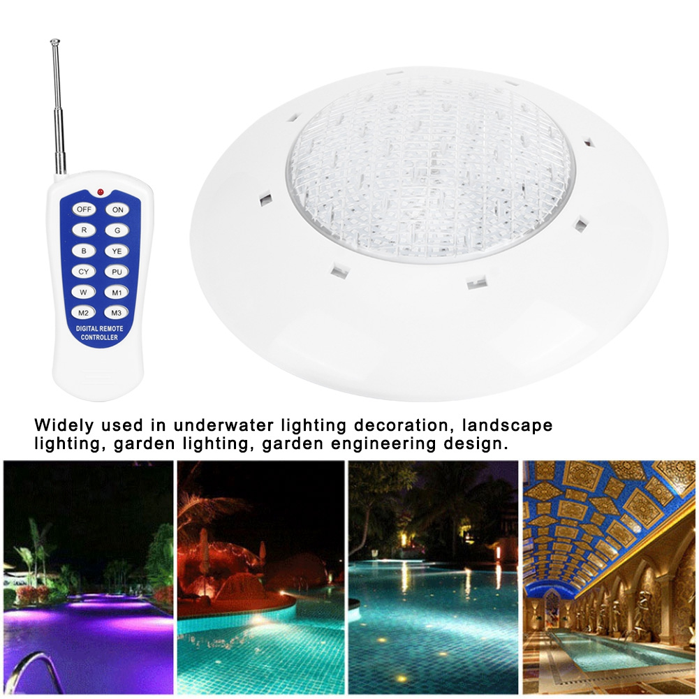 thumbnail 75 - Swimming Pool Wall Light Colorful Remote Control Underwater Lights AC 12V 18-45W