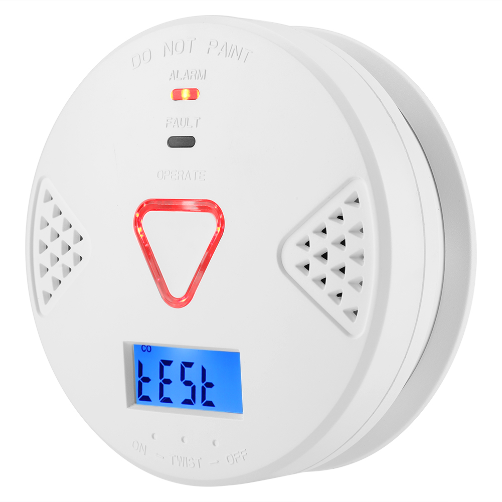 Security & Protection Efficient Home Security 2 In 1 Co Smoke Detector Live Voice Carbon Monoxide Leakage Sensor Lcd Display Co Alarm Sensor Smart Home Sensor Easy And Simple To Handle Fire Protection