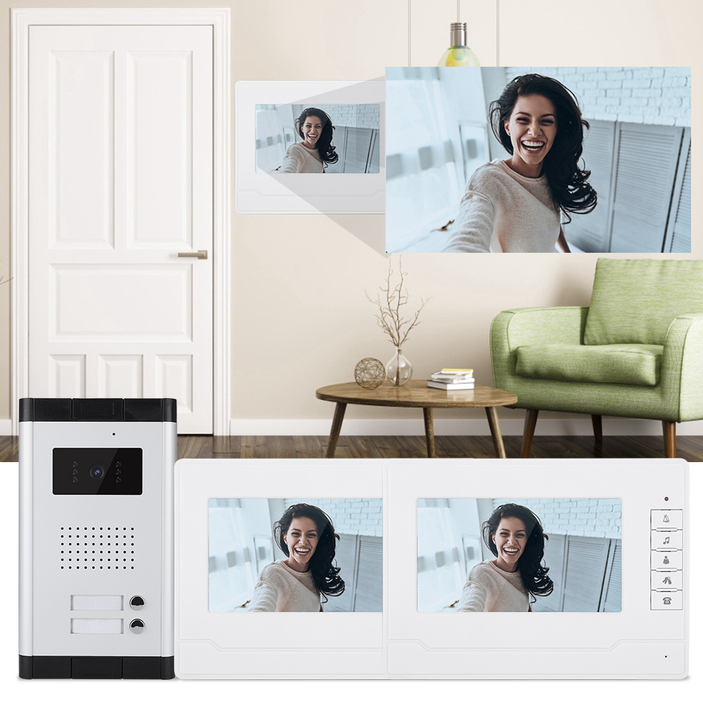 Outdoor-Night-Vision-Doorbell-7-034-Color-LCD-Display-Interphone-System-25-Chord thumbnail 16