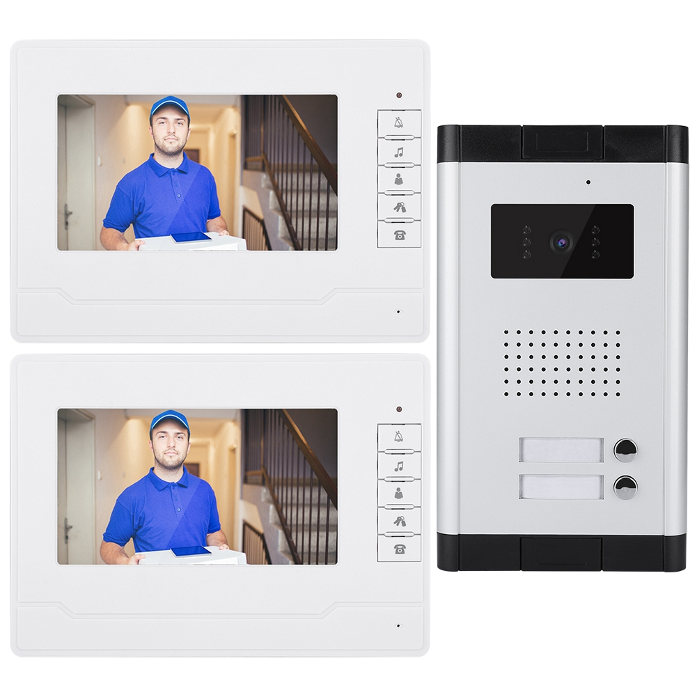 Outdoor-Night-Vision-Doorbell-7-034-Color-LCD-Display-Interphone-System-25-Chord thumbnail 21