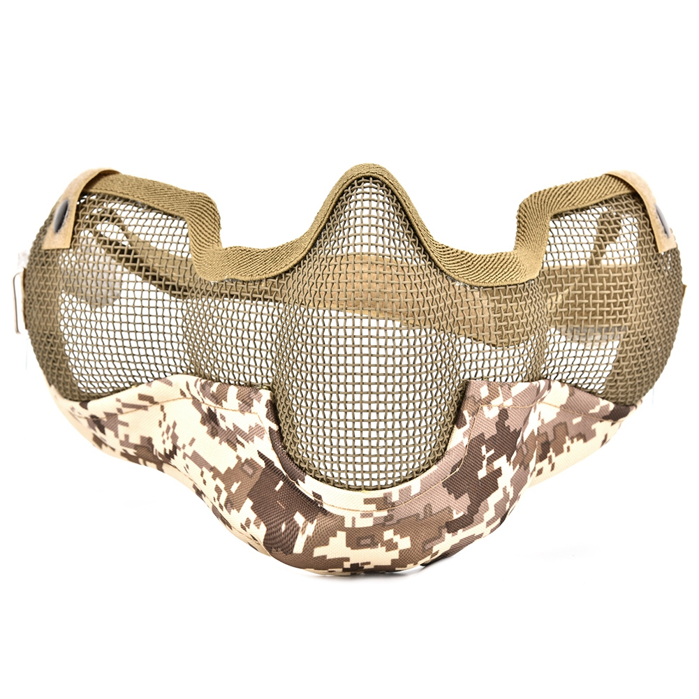 Half-face-Steel-Wire-Ear-Face-Protective-Mask-Tactics-Mask-Protector-Game-Hot thumbnail 19