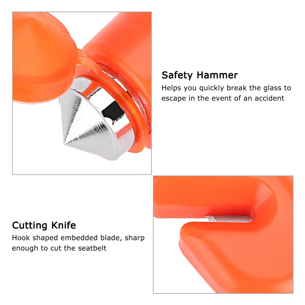 GT KQ/_ Car Safety Hammer Seat Belt Cutter Window Breaking Emergency Escape Tool