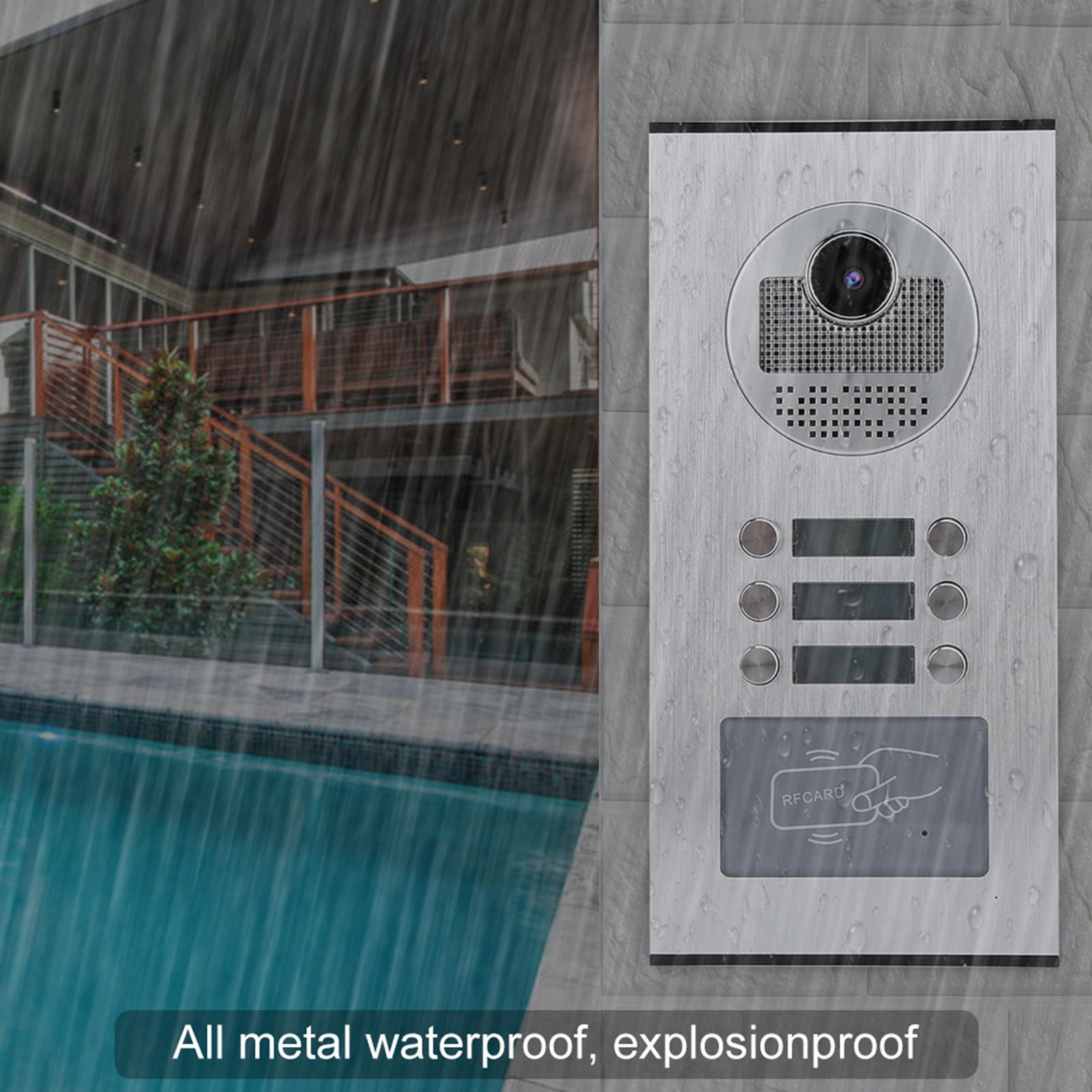 Audio-Intercom-Doorbell-7in-TFT-LCD-Video-Camera-Outdoor-Night-View-Waterproof miniature 17