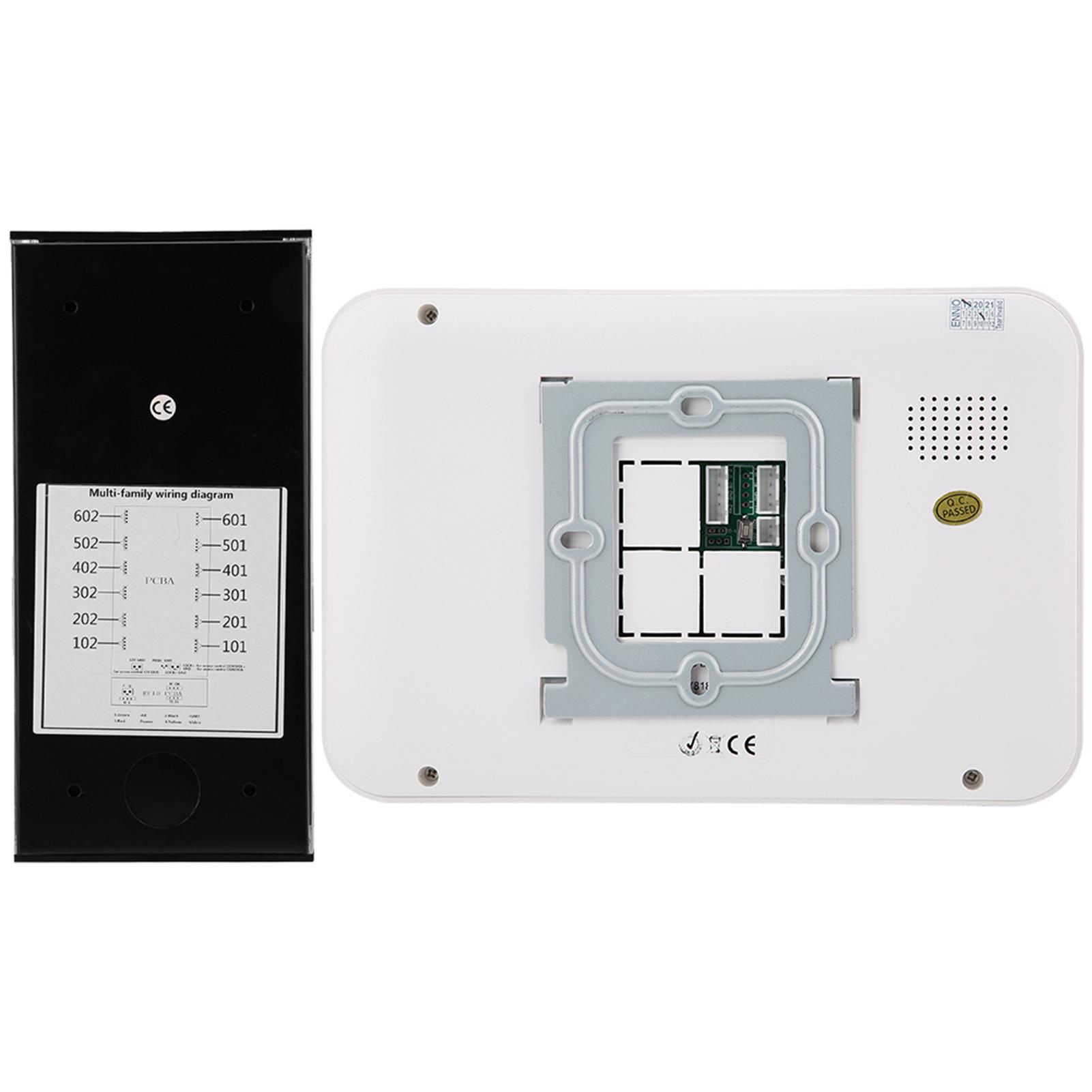 Audio-Intercom-Doorbell-7in-TFT-LCD-Video-Camera-Outdoor-Night-View-Waterproof miniature 19
