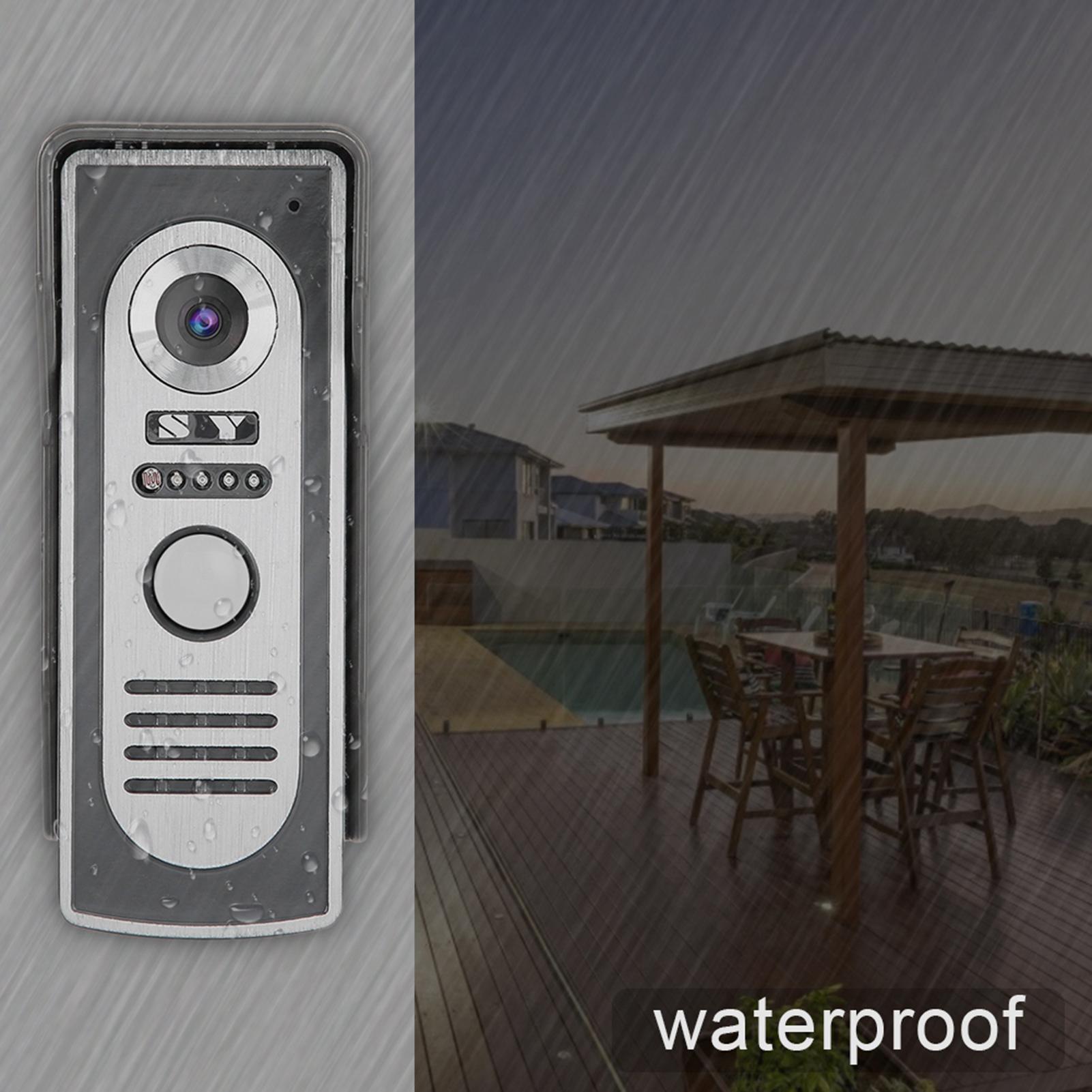 Audio-Intercom-Doorbell-7in-TFT-LCD-Video-Camera-Outdoor-Night-View-Waterproof miniature 26