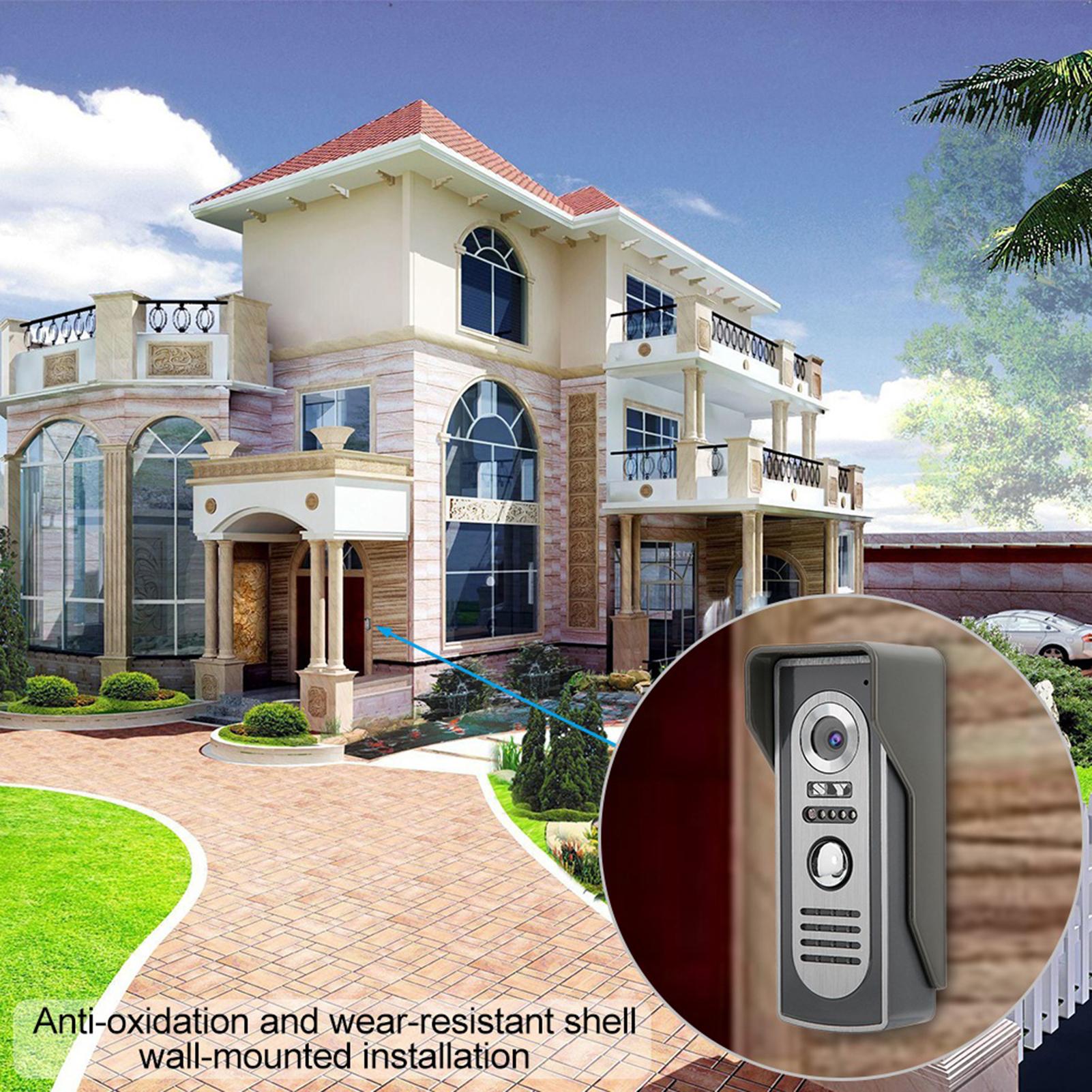 Audio-Intercom-Doorbell-7in-TFT-LCD-Video-Camera-Outdoor-Night-View-Waterproof miniature 23