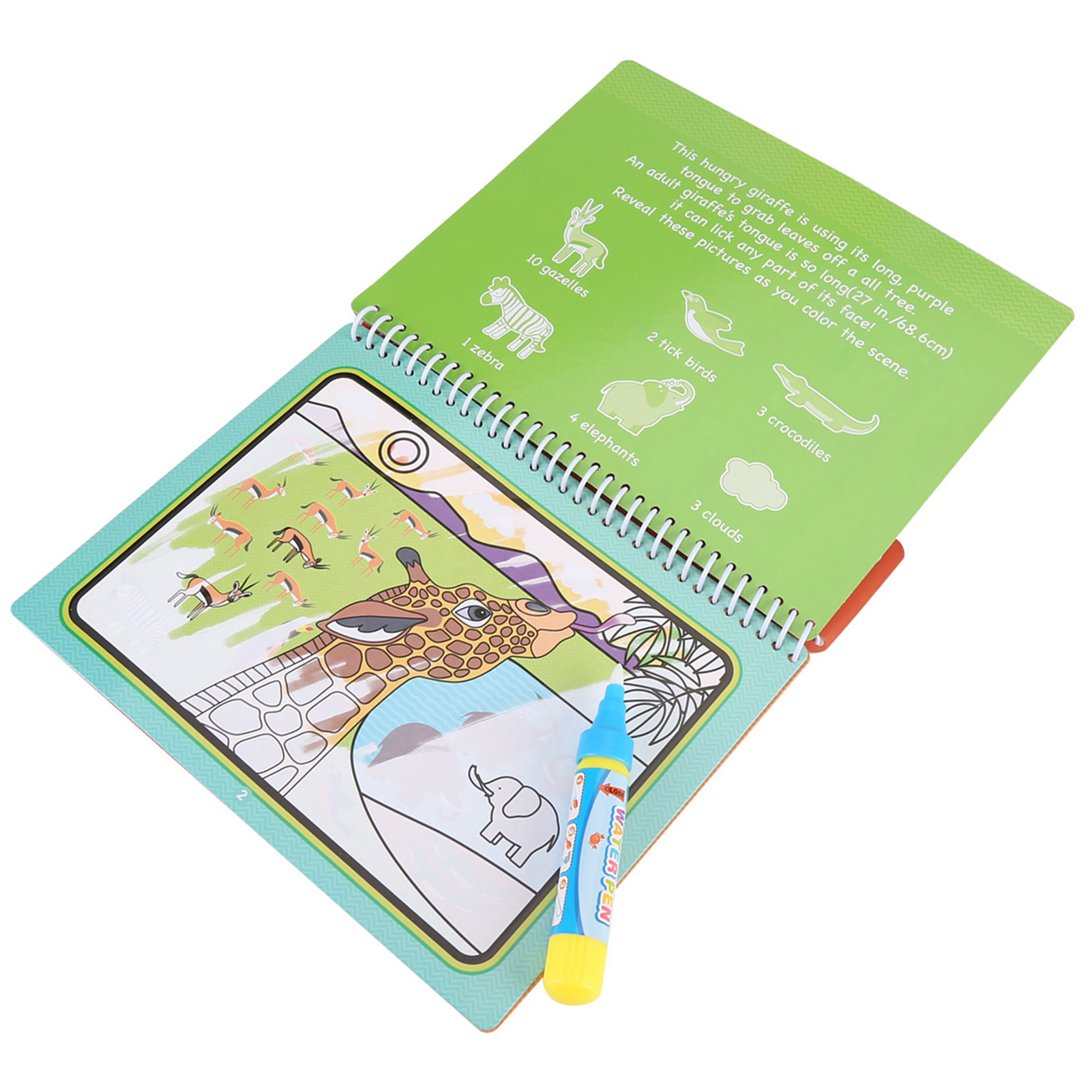 Kids Children Magic Water Drawing Book Pen Coloring
