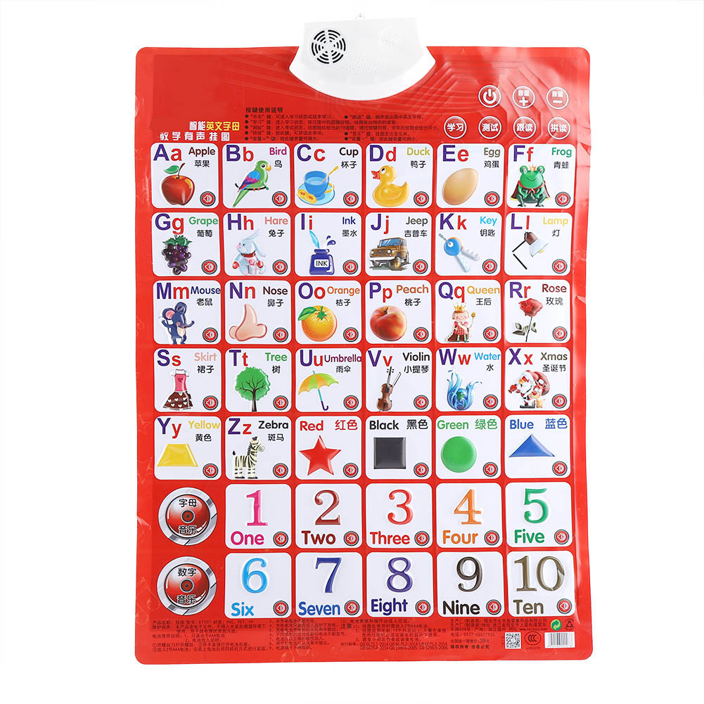 Kids Baby Learning Sound Wall Chart Read Card Book Early ...