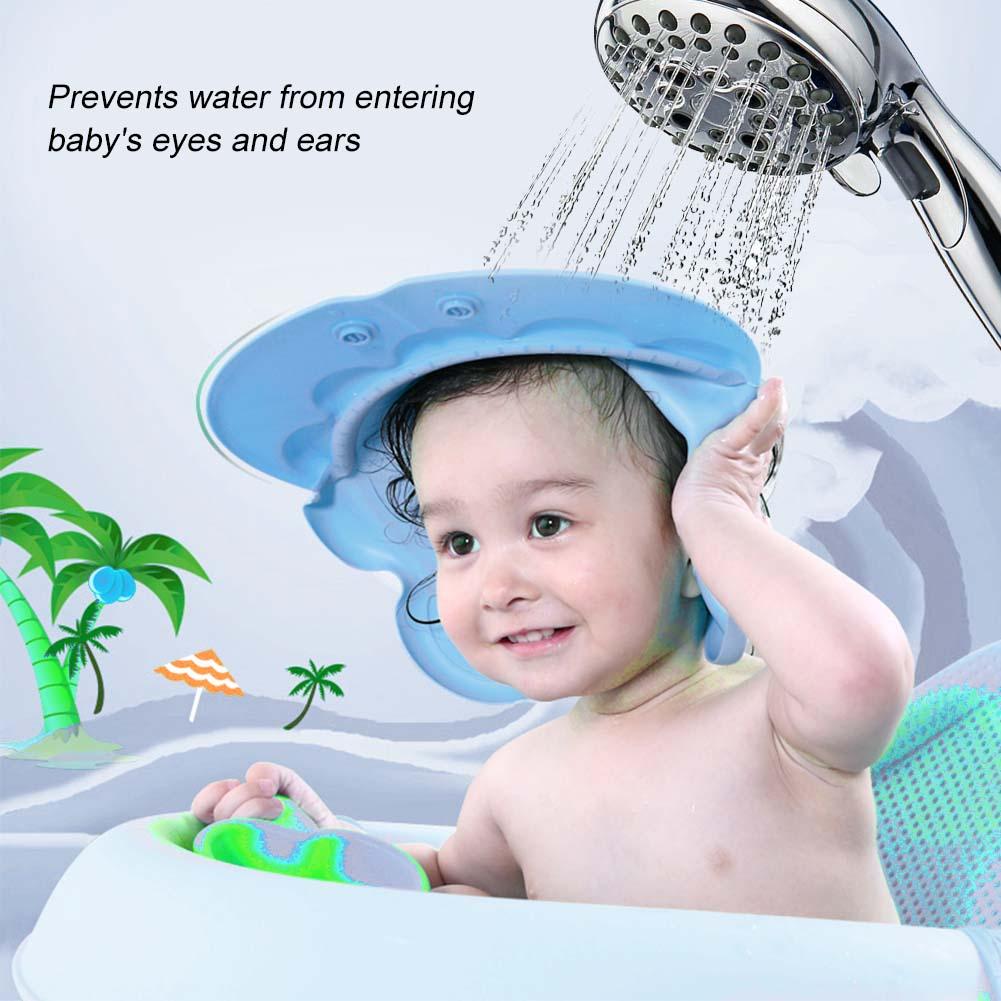 Furniture Adjustable Baby Children Shampoo Cap Bathing Shower Cap Hat Wash Hair Shield Adjustable Kids Shampoo Convenient Comfortable