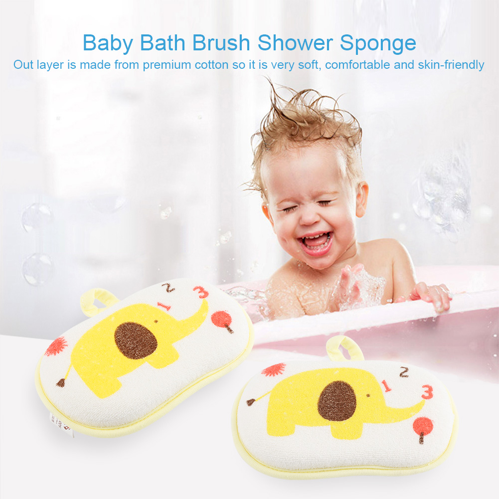 Baby Kids Bath Brushes Bath Sponge Baby Shower Convenient towel ...