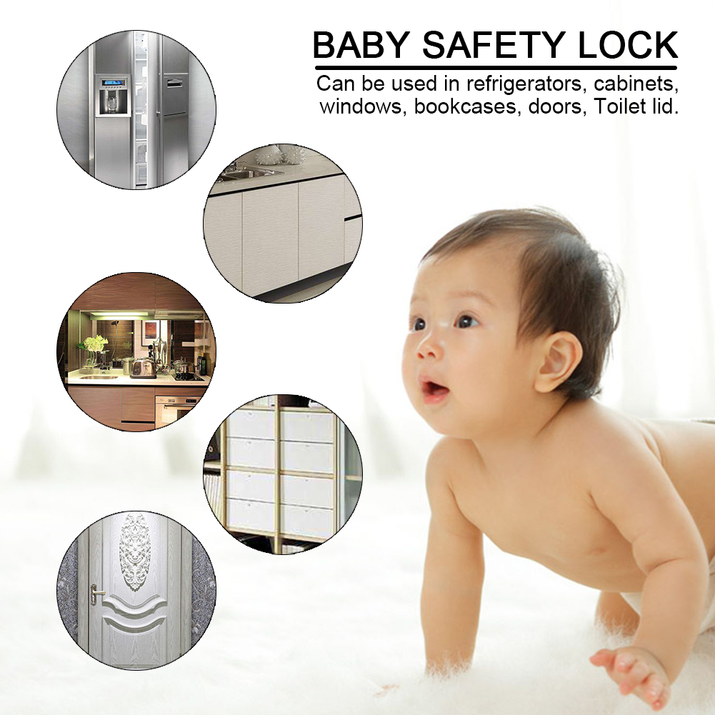 Multi-Function-Adjustable-Safety-Lock-Baby-for-Drawer-Fridge-Door-Protector 縮圖 2