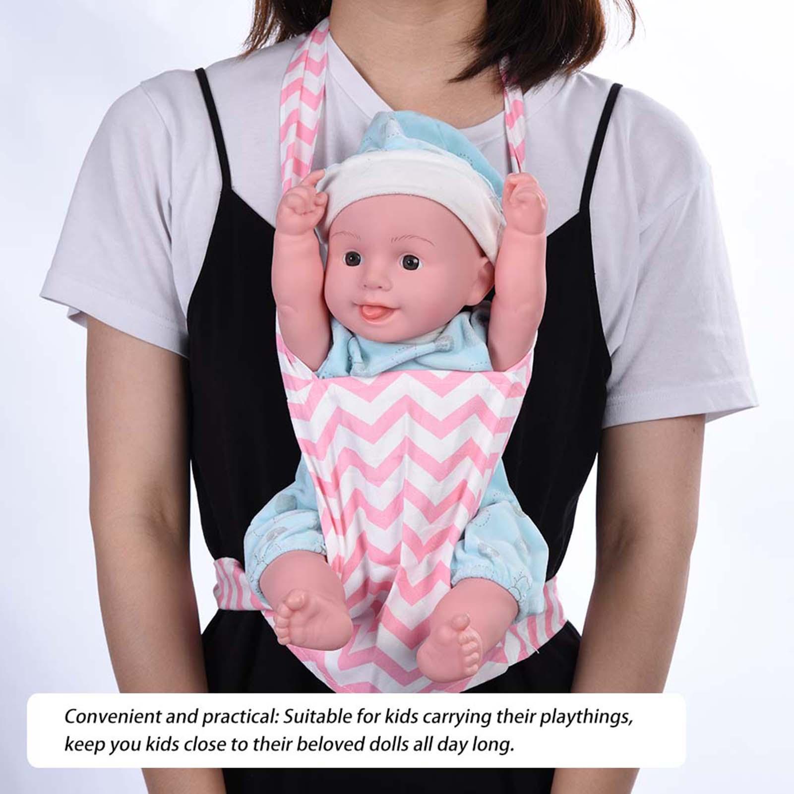 fa8402df85e Baby Doll Carrier Shoulder Sling Toy Kid Children Toddler Front Back ...