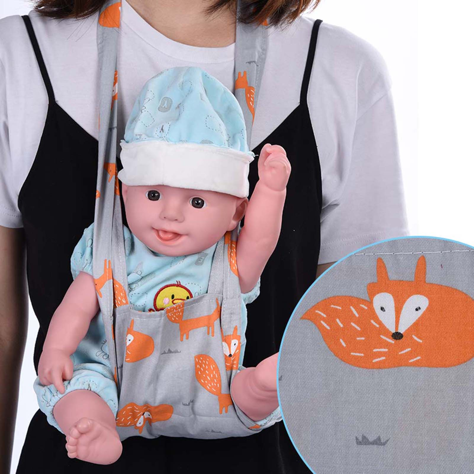 Baby-Doll-Carrier-Shoulder-Sling-Toy-Kids-Toddler-Front-Back-Christmas-Birthday