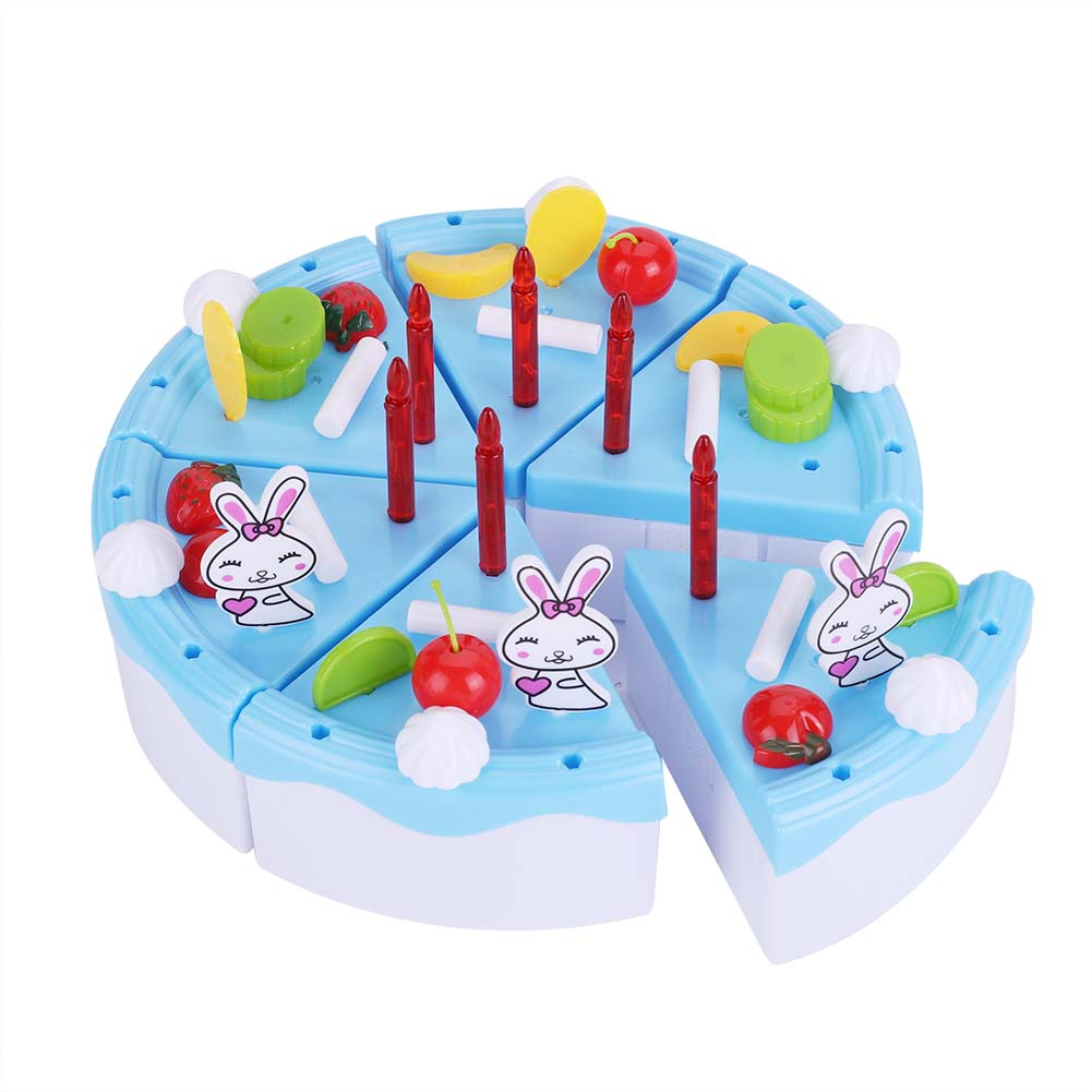 46Pcs Kitchen Cutting Toys Birthday Cake Pretend Play Food Toy Set ...