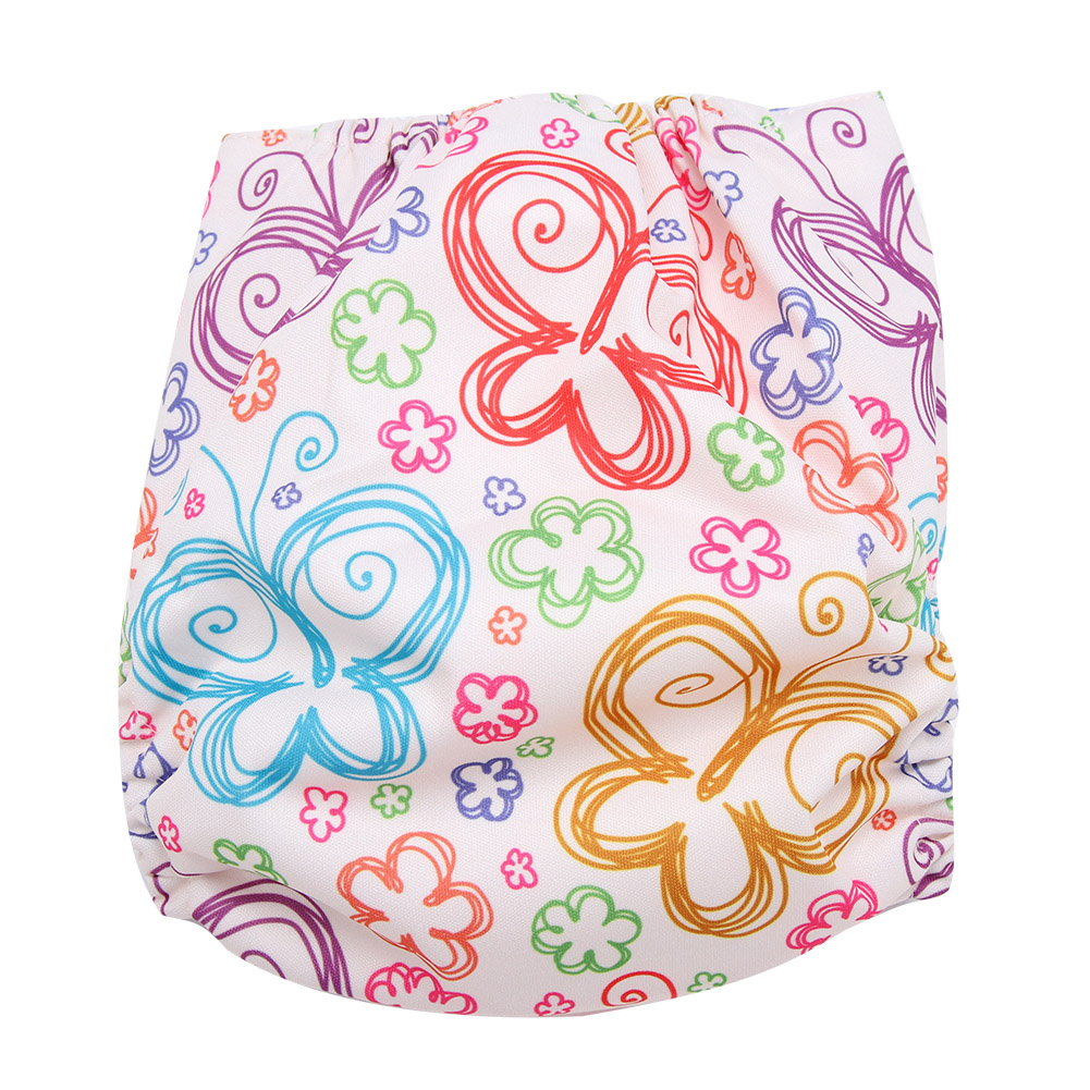 Reusable-Infant-Swim-Diaper-Washable-Pocket-Cloth-Hook-Loop-Size-Adjustable thumbnail 14