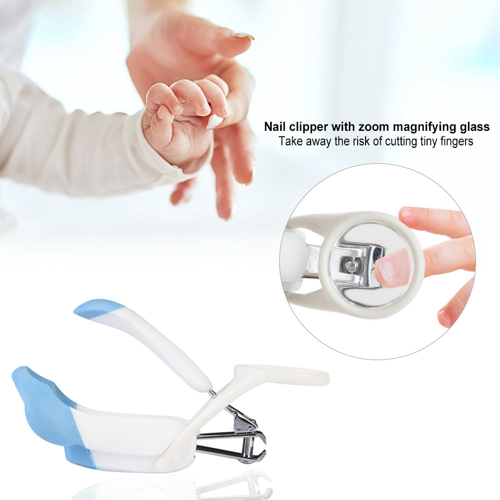 Fashion Cartoon Kid Magnifying Glass Finger Toe Nail Clipper Manicure Trimmer Cutter Baby Care