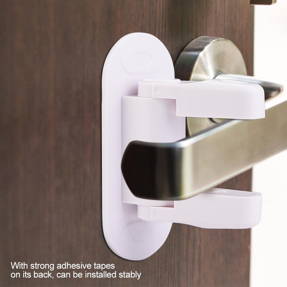 Self Adhesive Door Lever Lock Handle Lock Children Safety