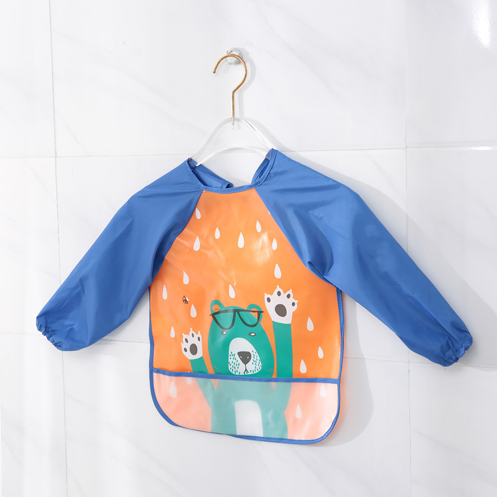 52bd163048cce Gift Sets Lovely Baby Bibs Feeding Bib Kids Apron Overclothes Waterproof  Long Sleeves Art Smock NO.04