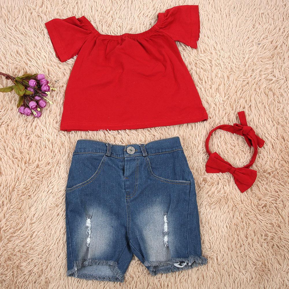 Toddler Zu TopShort Details 3pcsset Kids Clothes Summer Girls Baby Outfit Pants PukiZOXwTl