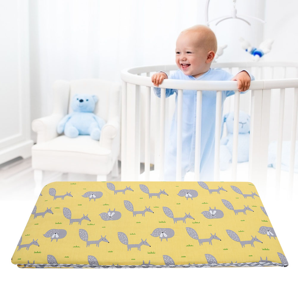 Soft-Cotton-Baby-Bed-Bumper-Crib-Safe-Protection-Cushion-Infant-Bed-Sheets thumbnail 10