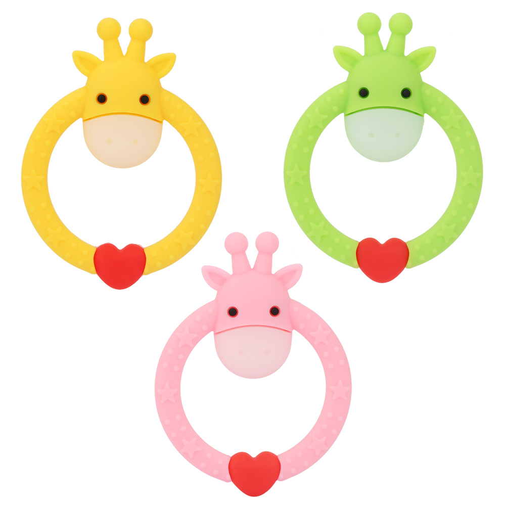 Baby Teether Silicone Giraffe Teething Toys Toddler Infant C